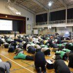 【11/13】舞浜小学校第3回避難所開設・運営訓練に訓練協力しました